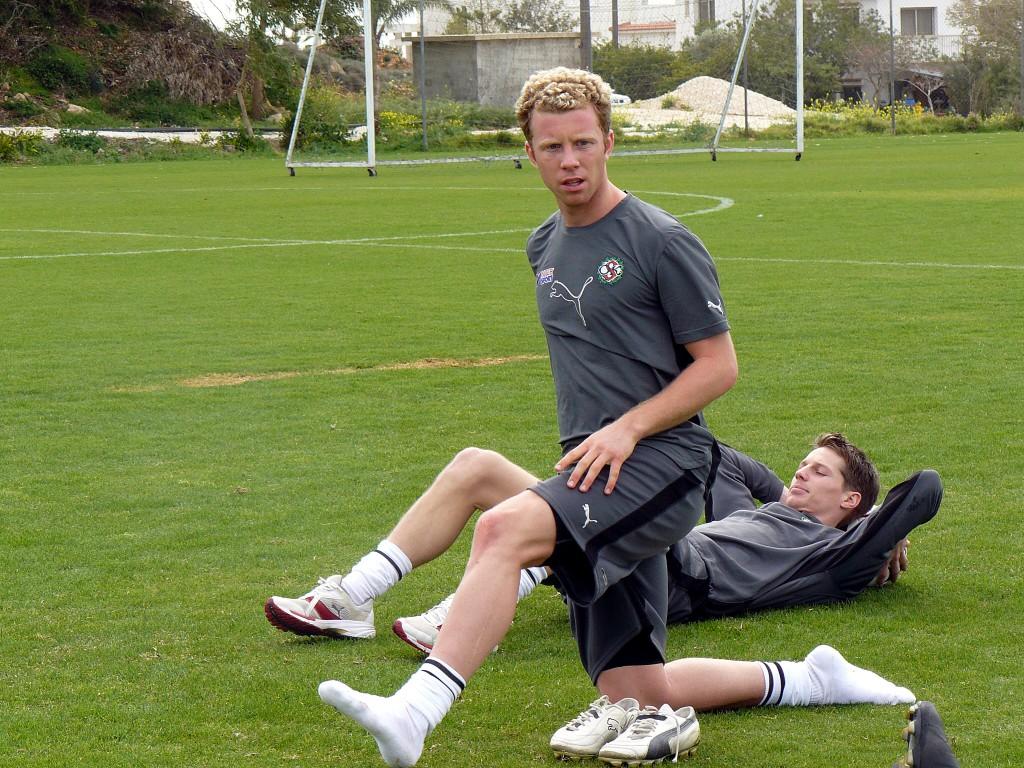 Det var då det. Kristoffer Näfver och Patrik Anttonen under Cypernlägret i mars 2008.