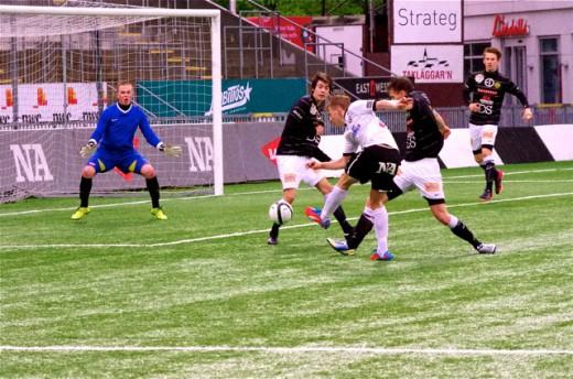 Sebastian Ring svarade för två riktigt snygga mål mot Smedby AIS.