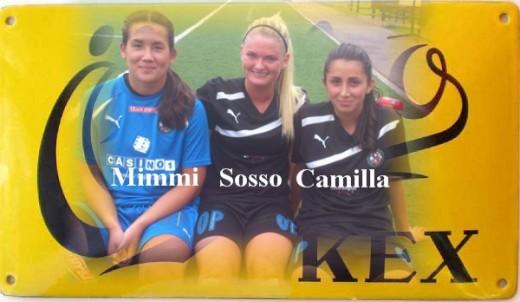 Matchvinnare mot BK30: Mimmi, Sosso och Camilla. (Fotomontage: Jonas Ask)