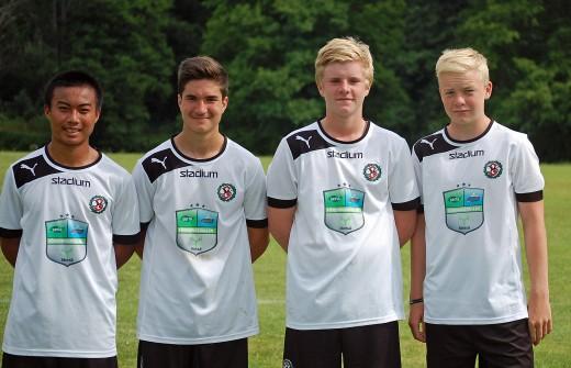 Målskyttarna mot Skeid: Burin Jankeaw, Almin Masic, Hugo Ljungberg och straffläggaren Pontus Bergström.