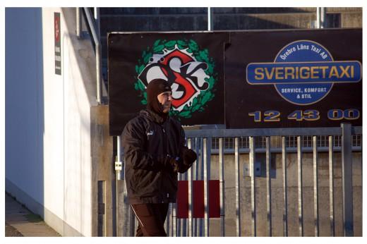 Det var då det: En ordentligt påpälsad Nordin Gerzic dagarna innan hans övergång till IFK Göteborg blev klar.