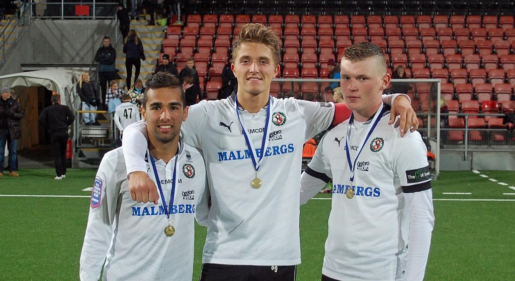 Lukman Murad, Anton Westerlund och Joel Nilsson var ÖSKs målskyttar mot BK Forward