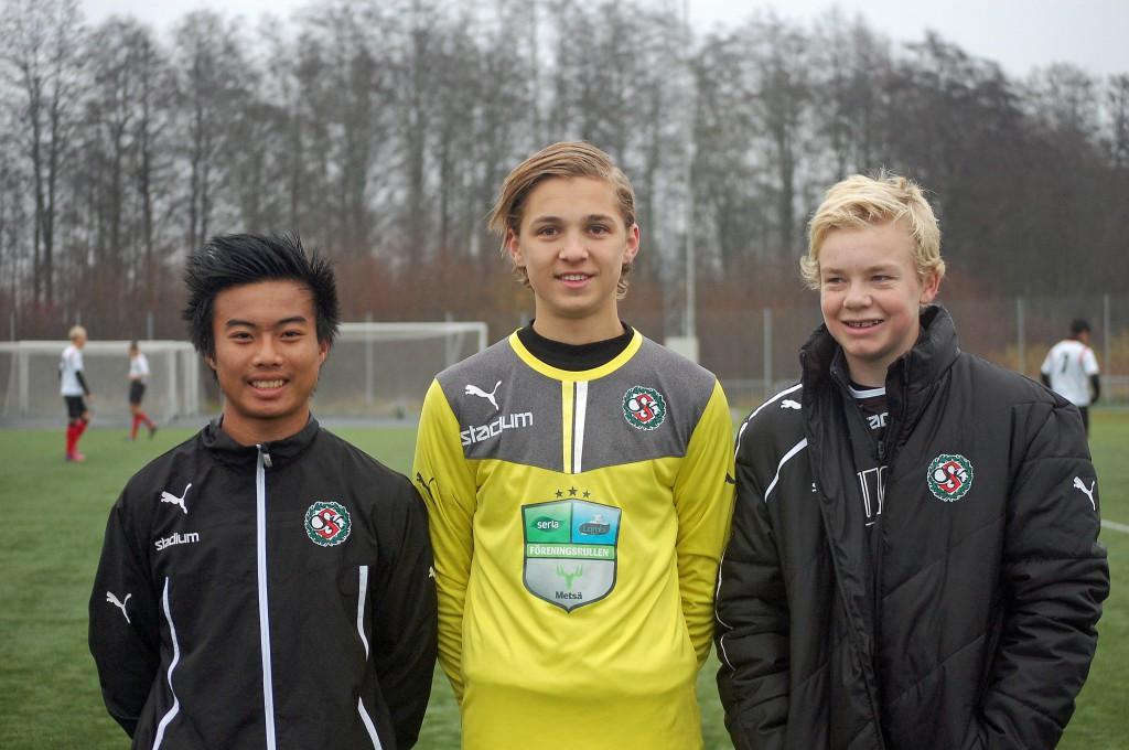 Burin Jankaew (1 mål), Adam Nilsson (bland annat straffräddning) och Pontus Bergström (två straffmål) låg bakom ÖSKs seger mot Älvsjö.