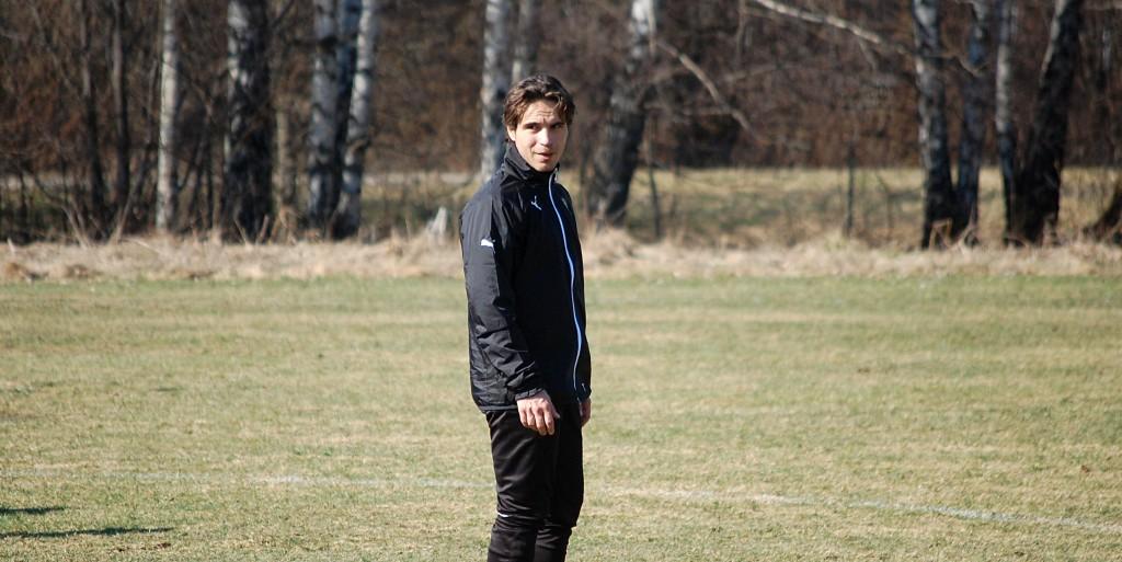 En smaltränad Nordin Gerzic gjorde sin första ÖSK-träning för året.