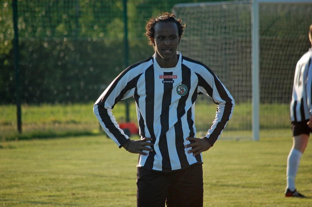 """Det blev en mycket lyckad comeback hos ÖSK Söder för Sharmarke """"Sharma"""" Guutale Ahmed."""