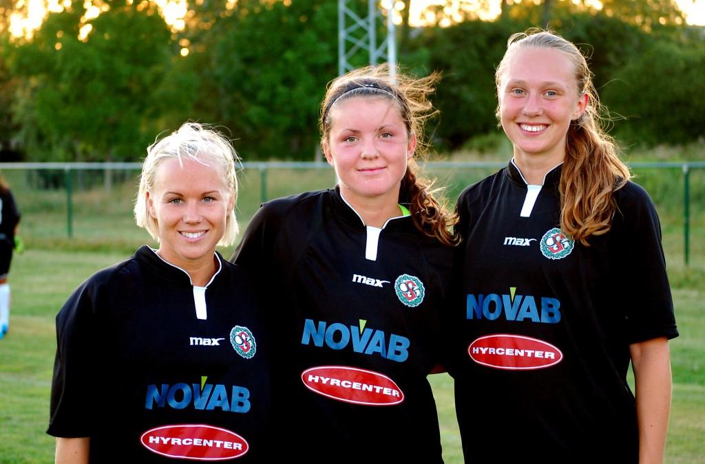 Hanna Åbom, Sabina Håkansson och Sabina Forsberg gjorde ÖSK Söders mål mot Forsby
