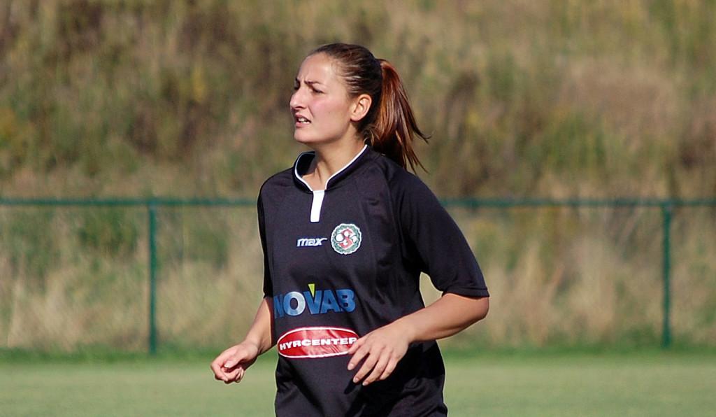 Silvia Erkisi visade sig vara en förstärkning på mittfältet i matchen mot IFK Lidingö.