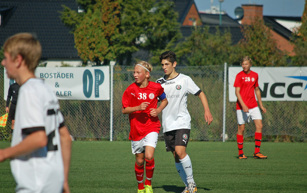 Touma Sabbagh avgjorde matchen till ÖSKs fördel med en väl avvägd lobb.