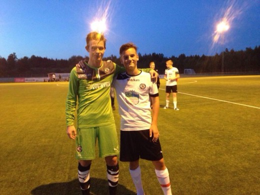 Jack Meehan och Samuel Brunnberg (Foto: Jacks twitterström)