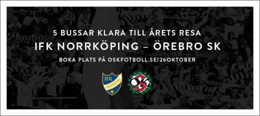 Intresset för resant till Norrköping är stort. Det är redan fem bussar som är fyllda och mer kan det bli. Boka nu! tycker ÖSK.