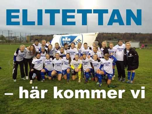 Grattis till avancemanget IFK Kalmar. Nästa år kan det vara ÖSK Söders tur att jubla.