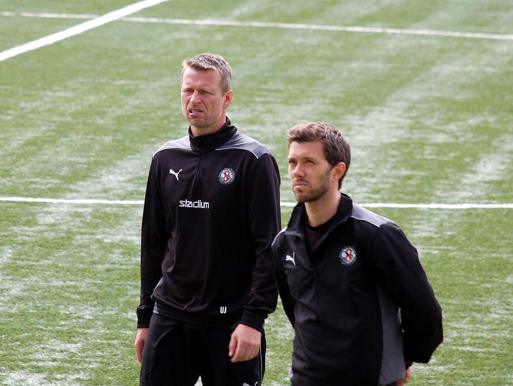 Urban Juneholm tillsammans med Jimmy Högberg.
