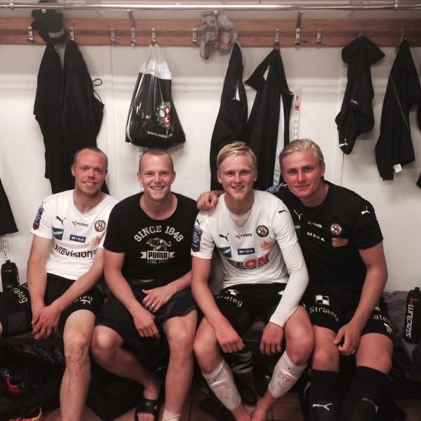 En nöjd kvartett efter cupvinsten mot BKV Norrtälje