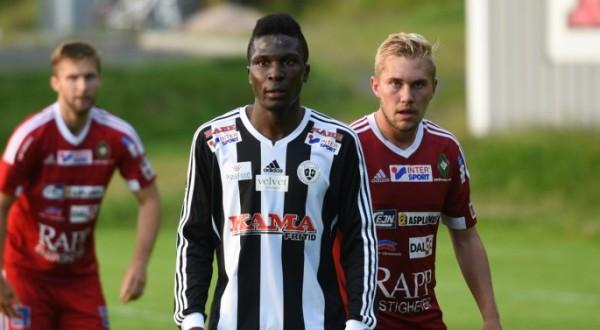 Bbakka Alexis David provspelar i kväll med ÖSK. (Foto: Victor Abrahamsson, jnytt)
