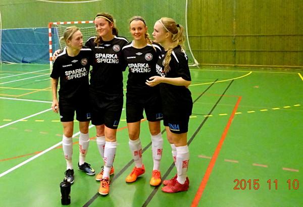 Målgörarna mot Garphyttans IF: Elin Börjesson (2), Sabina Håkansson (3), Amanda Nordenby och Sara Sandberg.