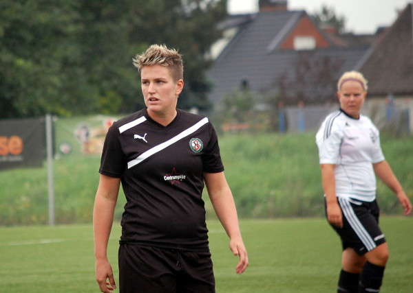 """Ann-Sofie """"Affi"""" Frost var lagets bästa målskytt med 11 mål år 2012 då ÖSK Söders damer tog steget från div 2 till div 1."""