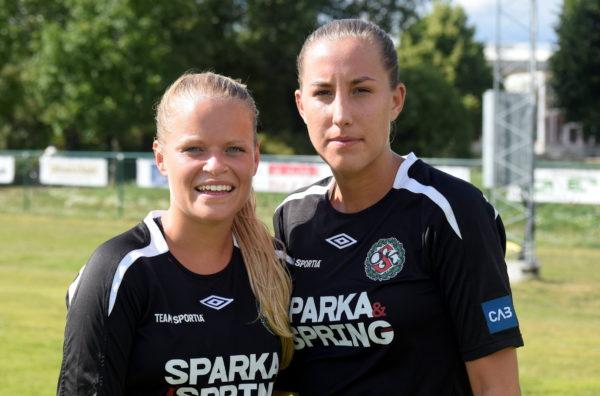 Josefine Zandén och Joline Jakobsson var ÖSK Söders målgörare mot Telge United.